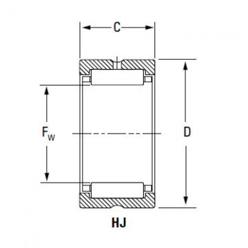 Bearing HJ-8010436 IR-648036 IR-688036