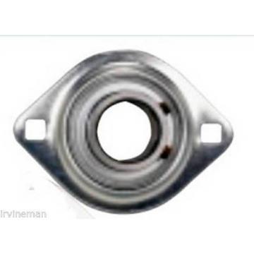 "FHPFLZ205-16 Bearing Flange Pressed Steel 2 Bolt 1"" Inch Ball Bearings Rolling"