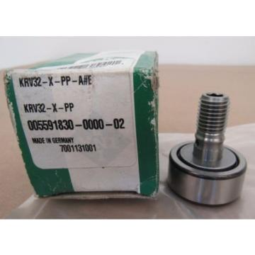 INA KRV32-X-PP CAM FOLLOWER 32MMD M12-1 ROLLING BEARING KRV32XPP MADE IN GERMANY