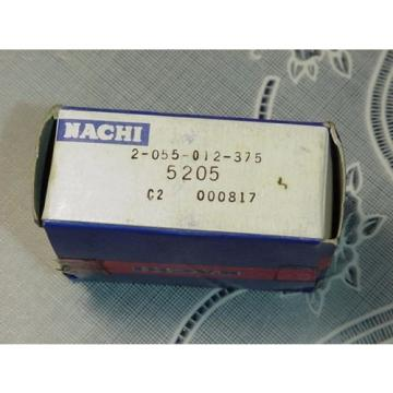 Nachi 5205 Bearing, 2-055-012-375, Double Roll, Angular Contact Ball Bearing NEW