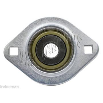 "FHSPFLZ203-11 Bearing Flange Pressed Steel 2 Bolt 11/16"" Ball Bearings Rolling"
