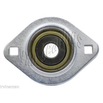 "FHSPFLZ207-23 Bearing Flange Pressed Steel 2 Bolt 1 7/16"" Bearings Rolling"
