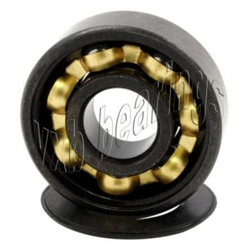 Cool Set of 8 Skateboard Bearing Bronze Cage Sealed Black Ball Bearings Rolling