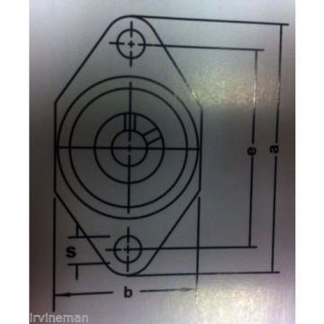"""FHSR205-15-2NCFM Bearing Flange Pressed Steel 2 Bolt 15/16"""" Inch Rolling"""