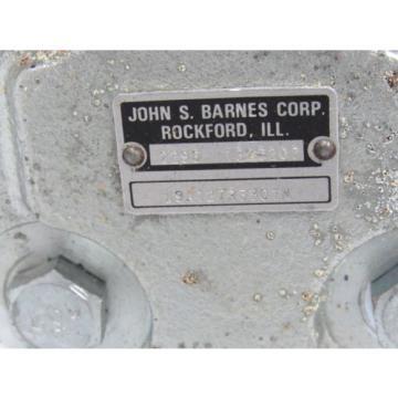 JOHN S. BARNES 1303207 HYDRAULIC PUMP