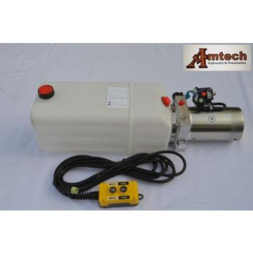 12V Single Acting Hydraulic Power unit, 8 Liter Poly Tank, Dump Tipper Trailer