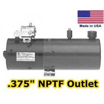 Hydraulic DC Power Unit, Pump, Motor, Reservoir - 1 Gal - No Valve - NPTF Outlet