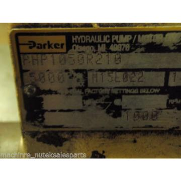 Parker Hydraulic Pump PHP1050R210