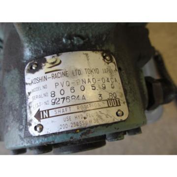 Koshin Racine PSV PNT0 30CA Hydraulic Pump w/ PVQ-PNA0-04CA List# 927684A 3 80