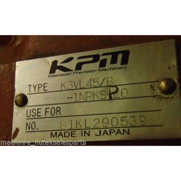 KAWASAKI HYDRAULIC PUMP KPM _ K3VL45/B-1NRKS-P0 _ K3VL45/B