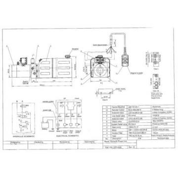 12V Double Acting Hydraulic Power Unit, Dump Trailer, 8 Liter Poly Tank, OEM Qu