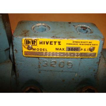 USED RIVETT 3000 PSI  HYDRAULIC PUMP VALVE  NO. P8829-03-25 AE1233