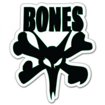 "Skateboard Bones Bearings car bumper sticker 4"" x 5"""