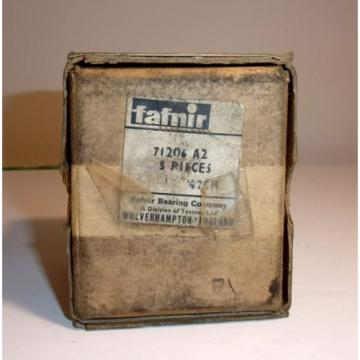 NOS box of 5 units Classic car transmission bearing England by Fafnir 71206 A2