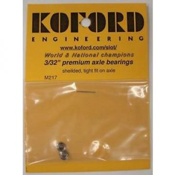 "Koford 3/32"" Premium Axle Bearings 1/24 Slot Car"