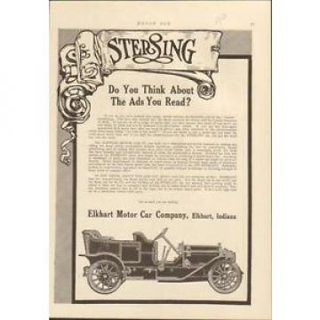 1910 Sterling Motor Car Elkhart IN Auto Ad Hess Bright Ball Bearings mc0131