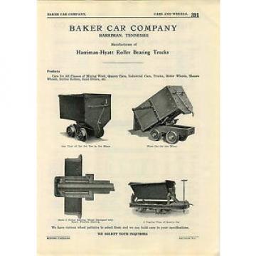 1923 ADVERT Mining Baker Railroad Car Co Harriman Hyatt Roller Bearing Trucks