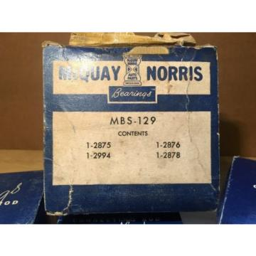 McQuay-Norris Main Bearing set MBS-129 Vintage Car Parts complete Set NOS
