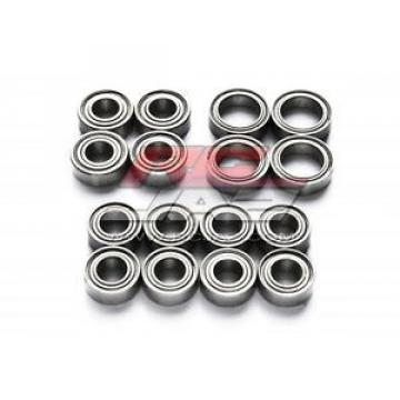 Jazrider 16pcs Metal Sealed RC Ball Bearing Kit Set Tamiya TT02 Chassis Car