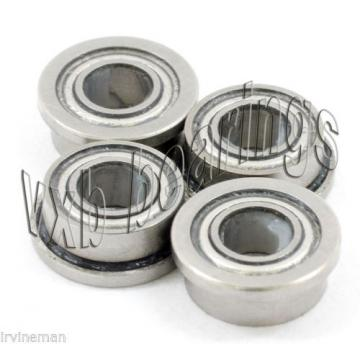 "4 Slot Car 1/8""Axle Flanged Ceramic Bearing Slotcar"