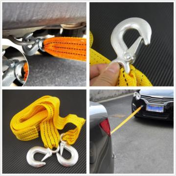 Durable Heavy Duty Car Tow Pulling Strap Nylon Rope Bearing 3 Ton For Mitsubishi