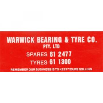 "Original Sticker: ""Warwick Bearing & Tyre Co."""