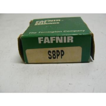 NEW FAFNIR S8PP BALL BEARING RADIAL 3/4IN BORE 1-5/8IN OD 7/16IN W