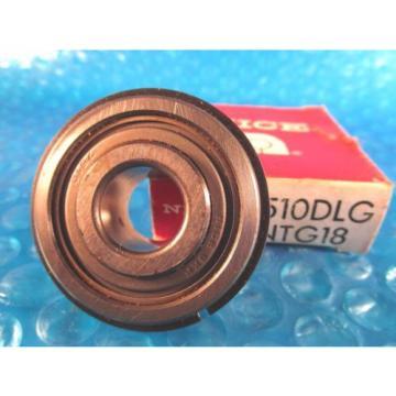 NICE 7510DLGTN, 7500 Series Precision Ground Radial Bearing, Snap Ring