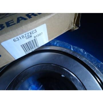 KOYO 6318ZZXC3 Single Row Radial Bearing Pressed Steel Cage New In Box